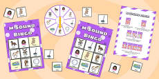 m Sound Bingo Game with Spinner