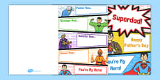 Father's Day Superheroes Card