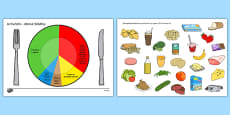 Healthy Eating Divided Plate Sorting Activity Romanian
