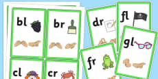 Phase 4 Initial Sound Flash Cards with British Sign Language