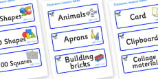 Starling Themed Editable Classroom Resource Labels