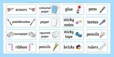 Australia - Classroom Equipment Tray Labels