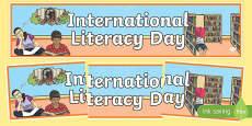 International Literacy Day Banner
