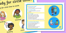Circle Time Information Posters