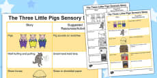 The Three Little Pigs Sensory Story