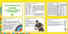 The Olympics Rio 2016 lks2 Maths Challenge Cards Romanian