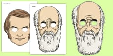 Charles Darwin Role Play Masks
