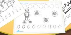 Rapunzel Pencil Control Worksheets