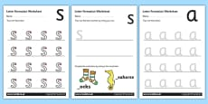 Phase 2 Letter Formation Worksheets