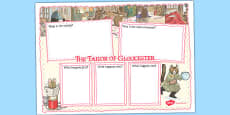 The Tailor of Gloucester Book Review Writing Frame (Beatrix Potter)