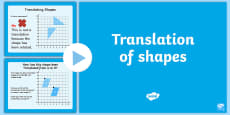 * NEW * Year 4 Translation of Shapes PowerPoint