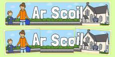 Ar Scoil Display Banner
