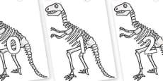 Numbers 0-31 on Dinosaur Skeletons