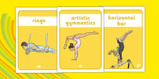 The Olympics Artistic Gymnastics Display Posters