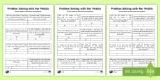 * NEW * Year 2 Maths Problem Solving with Bar Models Homework Differentiated Activity Sheets -