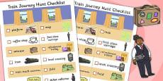 Train Journey Hunt Checklist