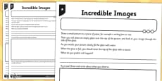 Incredible Images Activity Sheet