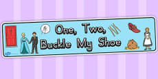 Australia - One, Two, Buckle My Shoe Display Banner