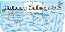 Dictionary Challenge Area Pack