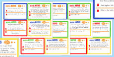 Mental Maths Challenge Cards