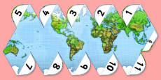 Printable World Globe Project