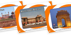 New Delhi Tourist Attractions Role Play Posters
