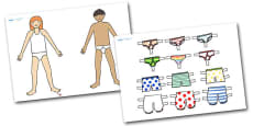 Cut Out and Dress up to Support Teaching on Aliens Love Underpants