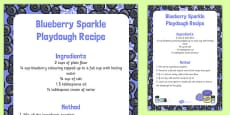 Blueberry Sparkle Playdough Recipe