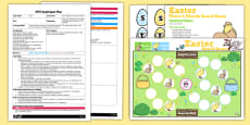 Easter Phase 2 Sounds Board Game EYFS Adult Input Plan and Resource Pack