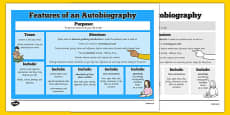 Features of an Autobiography Word Mat