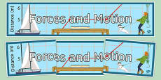 Forces and Motion Display Banner