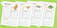 Dinosaur Fact File Activity Sheets