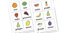Welsh Fruit Cards
