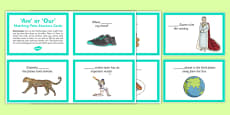 Are or Our Matching Pairs Sentence Cards