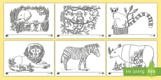 * NEW * Africa Mindfulness Colouring Pages