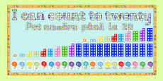 Ready Made 'I Can Count to Twenty' Display Pack Romanian Translation