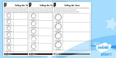 Telling the Time Home Learning Tasks