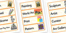 Art Gallery Role Play Labels