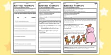 Sentence Starters Worksheet to Support Teaching on Fantastic Mr Fox