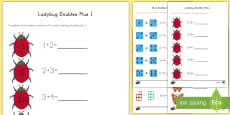 Doubles Plus 1 with Pictures Activity Sheets