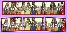 Ancient Civilisations Display Banner