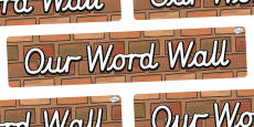 Our Word Wall Display Banner (Cursive)