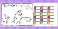 Australia - The Gruffalo Colour Labels Activity