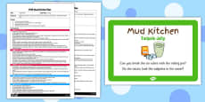 Tadpole Jelly EYFS Mud Kitchen Plan and Prompt Card Pack