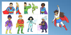 Superhero Cut-Outs