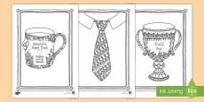 Father's Day Mindfulness Colouring Pages English/Portuguese