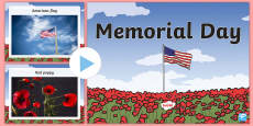 Memorial Day Words and Pictures PowerPoint