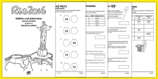 Year 2 Rio Olympics Addition and Subtraction Booklet Romanian Translation