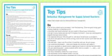 Behaviour Management Tips For Supply Teachers