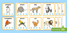 Animal Syllables Card Activity
